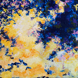 Composition in yellow and blue