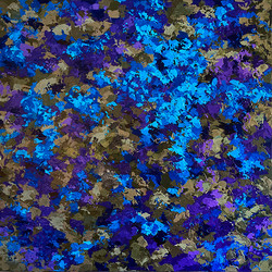Composition in violet and blue