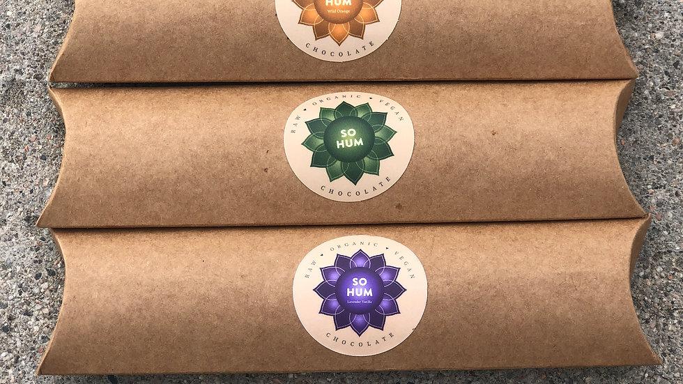 3 Flavors of Organic Vegan Chocolate