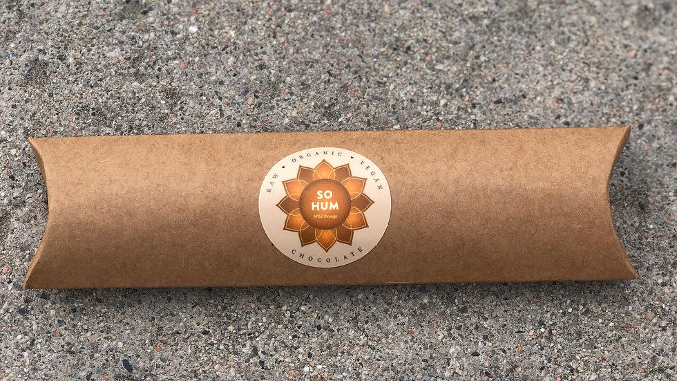 1 Pillow Box of Organic Vegan Wild Orange Chocolate