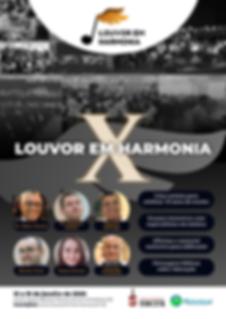 Louvor em Harmonia X impressos - cartaz