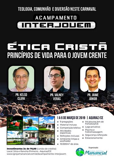 Cartaz Acampamento InterJovem 2019 - Unt