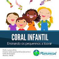 """Coral Infantil """"ensinando os pequeninos a louvar"""""""