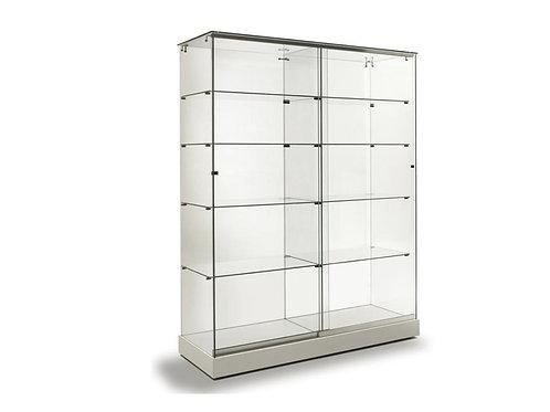 Vitrina 131x47x180  Zócalo color blanco