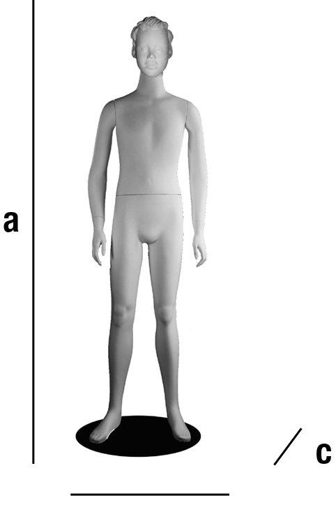 Maniquí niño con cabeza. Pascal. 150 cm