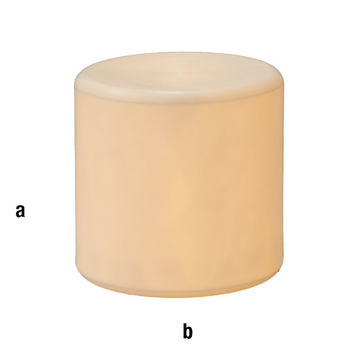 Peana plástico diámetro 40x40 con luz