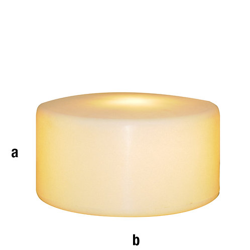 Peana plástico diámetro 40x20 con luz