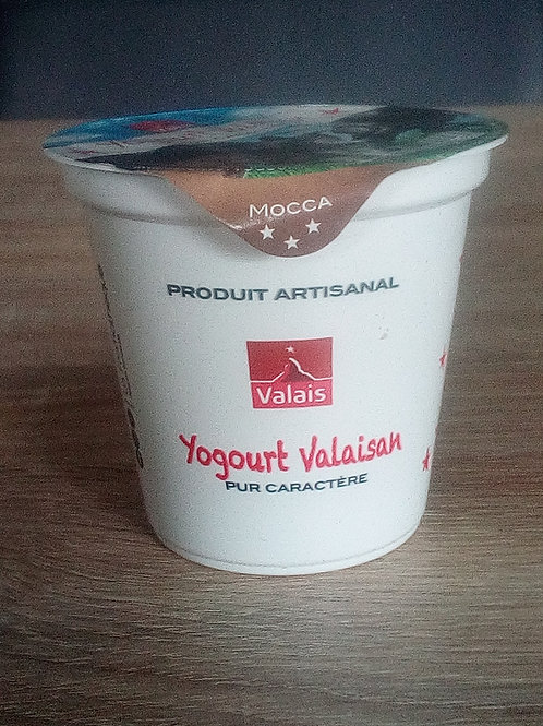 "Yaourt Valaisan ""pur caractère"" 125 gr. mocca"