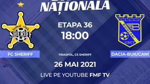 Sheriff - Dacia Buiucani. Totul ce trebuie să știți despre meciul din etapa 36