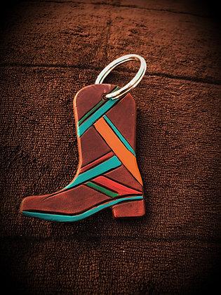 Cowboy Cowgirl Boot Key Ring