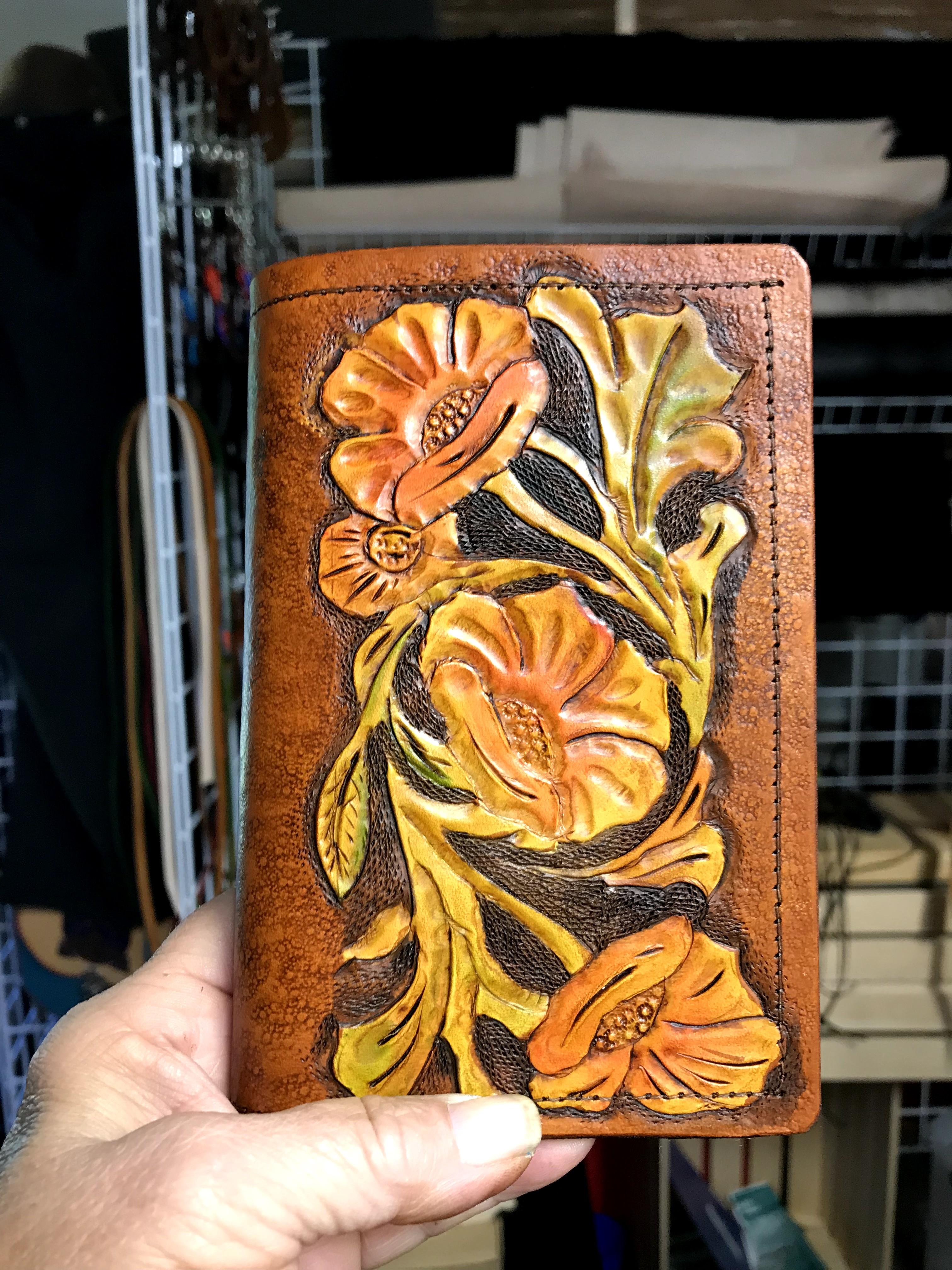 Handcarved Floral Journal