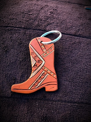 Cowboy Cowgirl Boot Key Ring 2