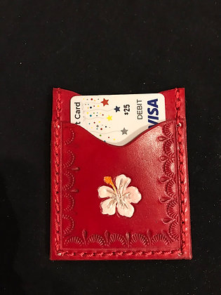 White Floral Minimalist Wallet