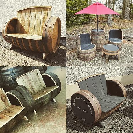 Whiskey Barrel Garden Furniture