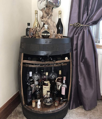 Whiskey Barrel Drinks Cabinet