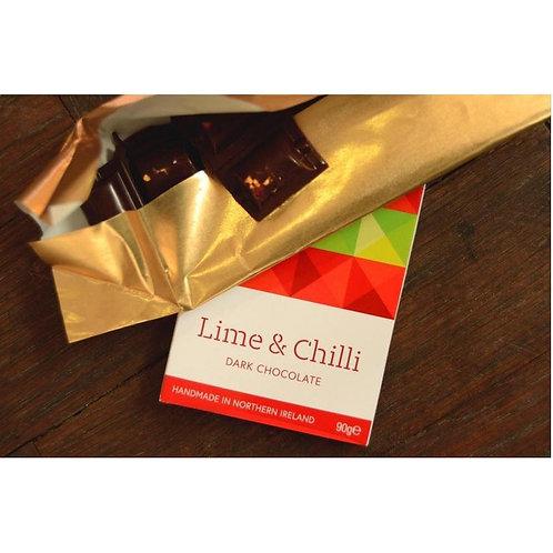 Lime and Chilli Dark Chocolate