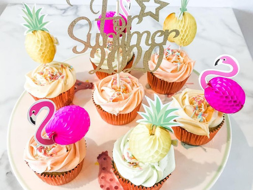 Summer themed cupcakes from The Sweet Life