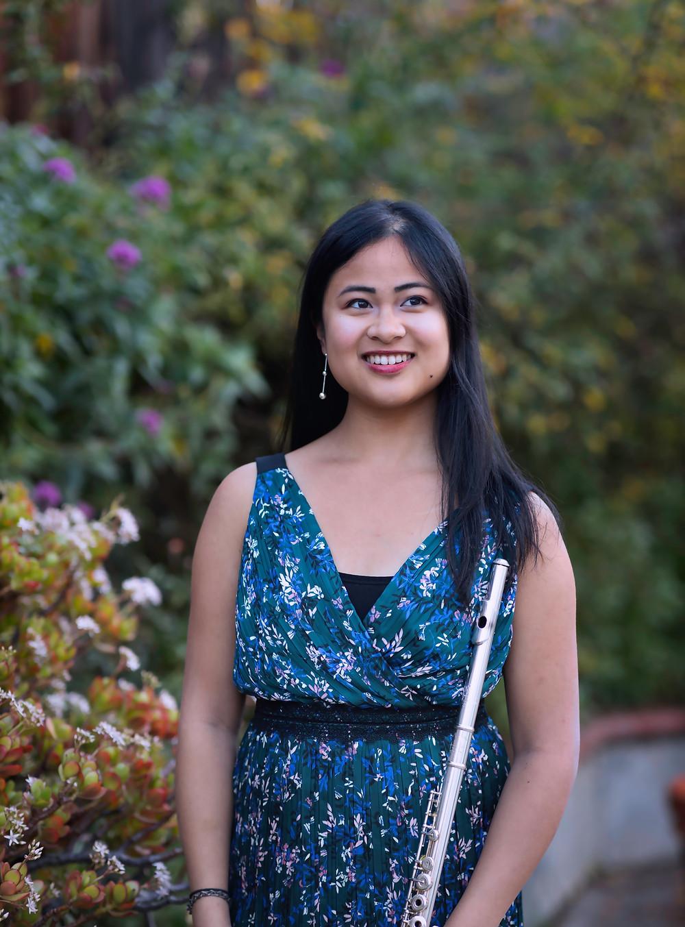 Theresa Abalos flutist writer teaching artist