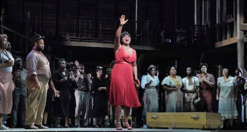 Chantal Braziel singing in the chorus of Porgy and Bess at the Metropolitan Opera.