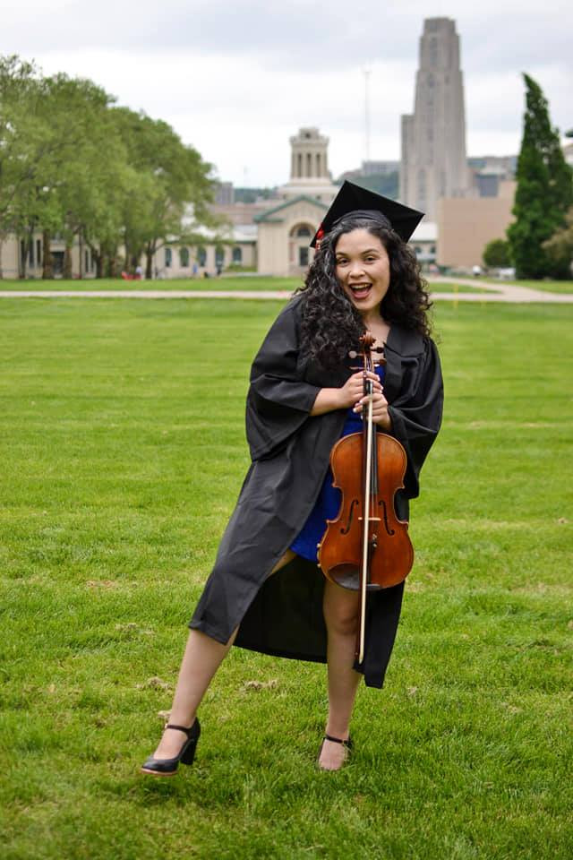 Veronica Lopez, violist and music educator, graduated from Carnegie Mellon University in 2019.