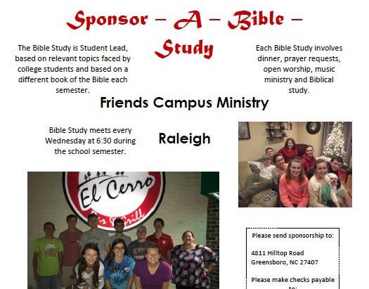 Sponsor a Bible Study!