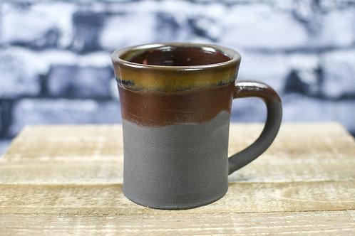 Tall Black Clay Mug