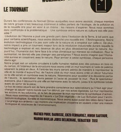 """Projet"""" Le tournant"""""""