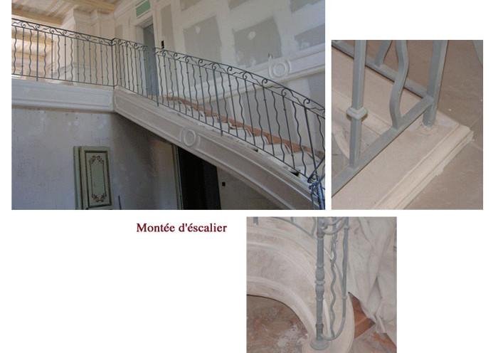 Nouvelle montée d'escalier