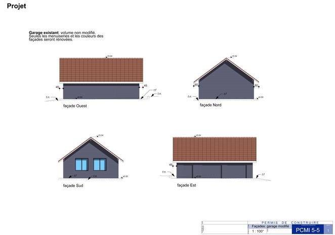 façades du garage rénové