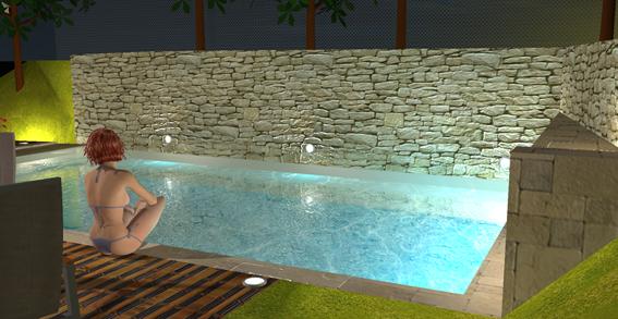 aménagement d'une piscine