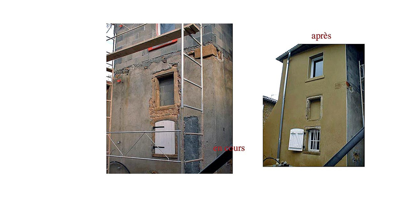 Préparation et façade