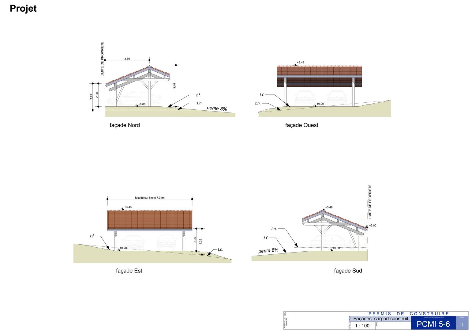 façades d'une nouvelle construction