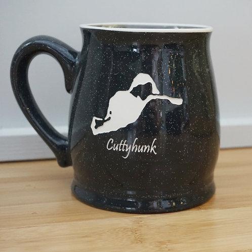 Etched Island Mug, Charcoal