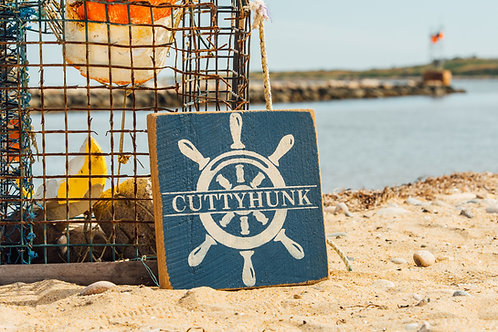 Rustic Wooden Sign - Ships Wheel