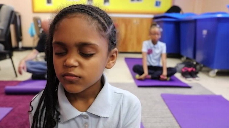 West Baltimore Elementary School Student Meditating