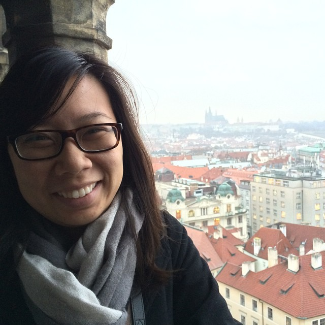 At the top of the astronomical clock tower facing Prague castle #praha #prague #czech #traveladventu