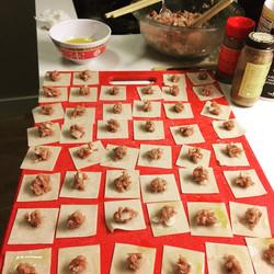 We made 240 of these manti #homecooking #turkishfood