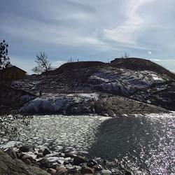 Beautiful Helsinki. Right by the Baltic Sea. Sea ice melting all around Suomenlinna Island