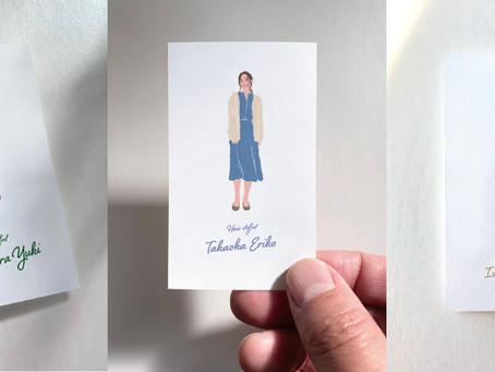 美容室のイラスト入り名刺を制作しました
