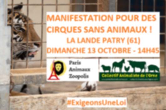 action cirque du 13 10 19 la lande patry