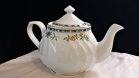 Fine China Teapot with Spring Flowers an