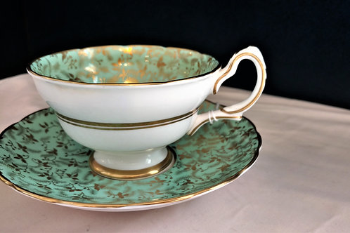 Grosvenor Bone China Teacup with Saucer, Made in England
