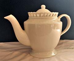 Laced Rim Ivory Teapot $20.00.jpg