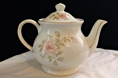 Windsor Gilded with Pink Flowers Tea Pot, Made in England