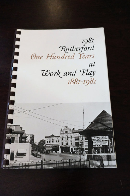 Collectable Rutherford Hundred Years at Work and Play 1881-1981, Datebook