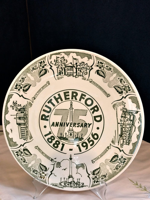 Rutherford 75th Anniversary Plate.  Limited Edition