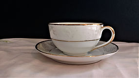 Bavaria Tirschenreuth Gold Trim Teacup a