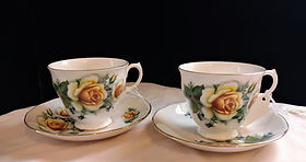 Gainsborough Bone China Pair of Teacups