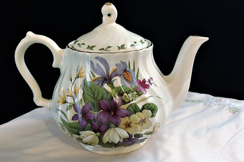 Churchill Colorful Floral Teapot