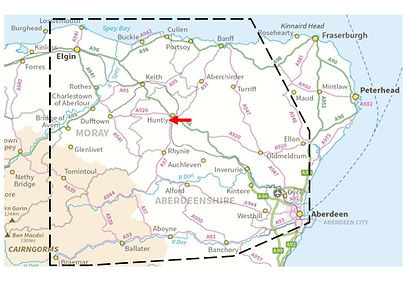 Map areas of delivery ABERDEENSHIRE MORA